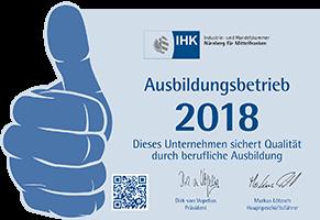 IHK Ausbildungsbetrieb 2018